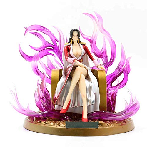 QHYZRV Carácter Anime de una Pieza Hancock Qiwuhai Trono emperatriz Imagen Modelo de Juguete muñeca Estatua Escultura Premium Version Altura 18cm