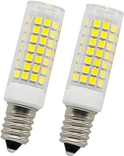 E14 LED Bulb 6W AC120V Incandescent Bulbs 75W Equivalent,600LM,White Light 6000K (Pack of 2)