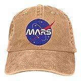 RFTGB Gorras Unisex Accesorios Sombreros Gorras de béisbol Sombreros de Vaquero Mars Denim Baseball Cap, Unisex Vintage Dad Hat, Golf Hats, Adjustable Plain Cap