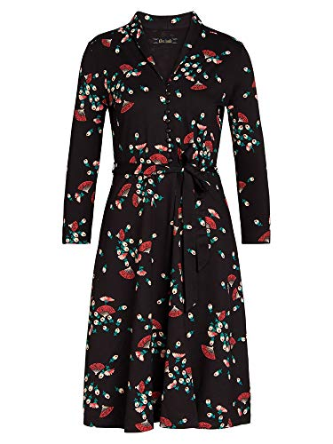 King Louie Damen Blusenkleid Emmy Dress Matcha (XL, Black)