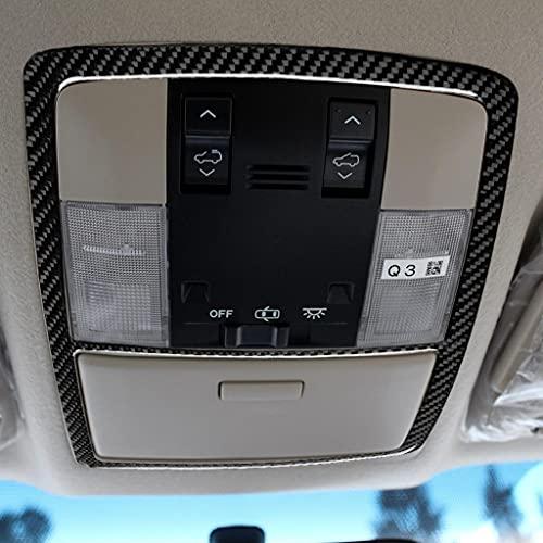 Coche interior de fibra de carbono techo lectura lámpara marco ajuste refit accesorios para Toyota-Land Cruiser Prado 2010-2018