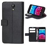 starz mobiles accessoires ARCHOS Core 50 - Tasche Gummi TPU Schutz Handytasche (Folio Black)