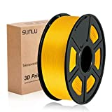 SUNLU 3D Printer Filament PLA+, 1.75mm PLA plus Filament, 3D Printing Filament Low Odor, Dimensional Accuracy +/- 0.02 mm, 2.2 LBS (1KG) Spool,Lightgold