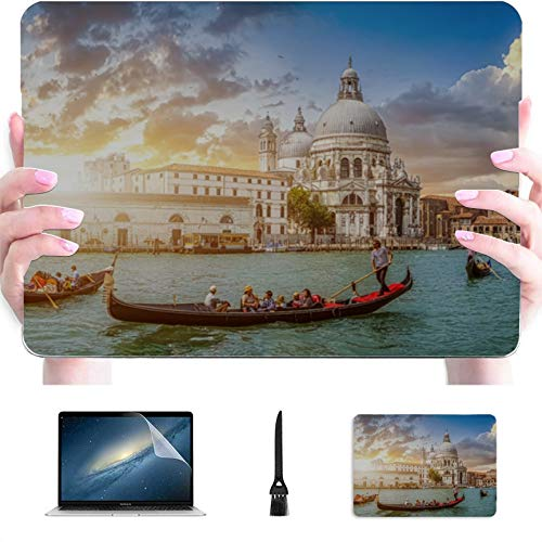 MacBook Air Cover Famous Canal and Bridge at Sunset Plastic Hard Shell Compatible Mac Air 13' Pro 13'/16' Laptop Case Mac Protective Cover for MacBook 2016-2020 Version