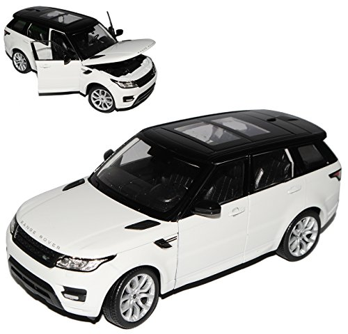 Welly Land Rover Range Rover Sport 2. Generation Weiss Ab 2013 1/24 Modell Auto