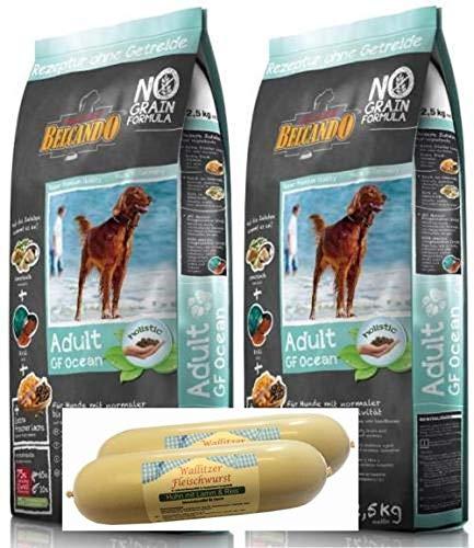 Belcando Adult Grain Free Ocean Hundefutter 2 x 12,5kg + 2 x 400g Fleischwursts gratis dazu