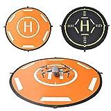 Ewendy Almohadilla de aterrizaje para dron, 110 cm, universal, impermeable, portátil, plegable, para helicóptero teledirigido, dron PVB, DJI Mavic Pro Phantom 2/3/4 Pro