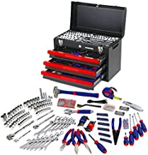 WORKPRO 408-Piece Mechanics Tool Set with 3-Drawer Heavy Duty Metal Box, W009044A