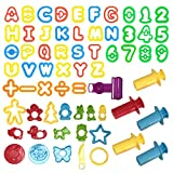 Wartoon amasadora herramienta de plastilina herramientas, accesorios de plastilina cortadores de galletas juguetes de cocina, 56 piezas