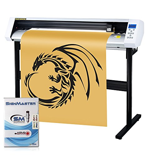 MKCUTTY 53' Vinyl Cutter Sign Cutting Plotter Machine With SignMaster (Design + Cut) Software