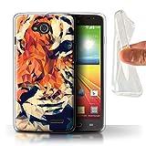 Stuff4 Phone Case for LG L90/D405 Geometric Animal Wildlife