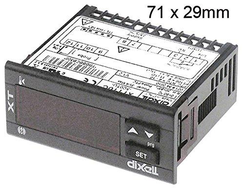 Dixell XT110C-5C0TU elektronische regelaar 230 V AC voor NTC/PTC/Pt100/TC(J,K) -200 tot +1300 °C afmetingen 71 x 29 mm Nee weergave 31 1/10 2-cijferig