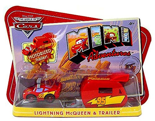 Disney CARS Mini Adventures Lightning McQueen With Motorized Trailer