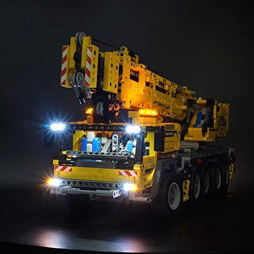 Axjzh Beleuchtung Lichtset für Lego Technic 42009 Mobiler Schwerlastkran, LED Beleuchtungsset Kompatibel mit Lego 42009 (Nicht Enthalten Lego Modell)
