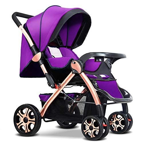 Lowest Price! C+Q Baby Stroller Bassinet Pram,Adjustable High View Deluxe Collapsible Baby Carriage,...