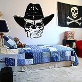 wZUN Calcomanía de Pared Pirata Barco Pirata Isla Baojin Vinilo Pared Pegatina Dibujos Animados Adolescente habitación decoración Mural 50X43cm