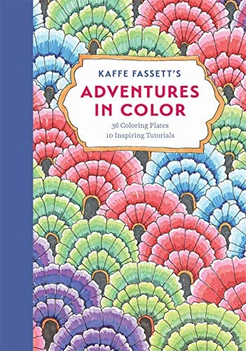 Kaffe Fassett s Adventures in Color Adult Coloring Book 36 Coloring Plates 10 Inspiring Tutorials product image