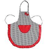 mhde Delantales Lindo Babero Delantal Vestido Vintage Cocina Mujeres Bowknot con Bolsillo Regalo Mujer Algodón Negro Lunares Delantal De Cocina