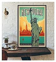 LMHベッドルーム装飾壁装飾ツーリズム世界旅行キャンバスポスターロンドンニューヨークポスタープリント壁アート装飾 (Color : IN018 6, Size (Inch) : 20X30cm Unframed)