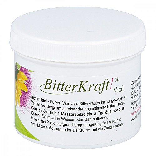 BITTERKRAFT! Original in 5 Größen - VitalPulver - Bitterstoffe/Bittermittel Pulver nach Hildegard von Bingen - Ausgewogene Kräuter vor dem Essen, alkoholfrei - 100g Pulver Aromatischer Geschmack