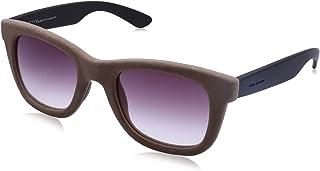 نظارة شمس بعدسات شبه مربعة ارجواني وشنبر قطيفة للنساء من ايطاليا انديبندنت - بني