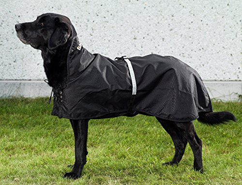 Back on Track Hunderegenmantel ohne Füllung Schwarz Größe 23cm-82cm (59cm)
