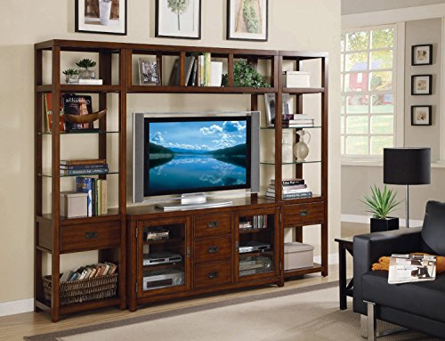 Big Sale Hooker Furniture Danforth Home Theatre Wall Group w/ 56 inch Console