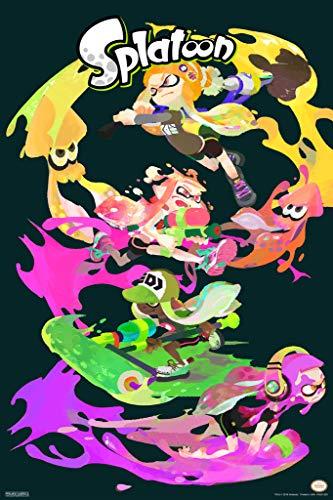 Pyramid America Splatoon Character Stack Nintendo Poster 30x46 Cm Inch