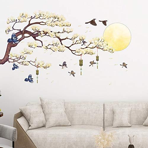 China puesta de sol paisaje pegatinas de pared decoración del hogar tatuajes de pared sala de estar dormitorio sofá decoración mural papel tapiz cartel