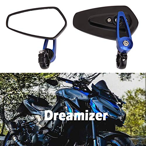 "DREAMIZER 7/8"" 22mm Specchietti Manubrio per Moto, Moto Specchi Retrovisori per 790 690 390 125 Z1000 ER6N ER6F Monster M696 821 MT03 MT09 FZ6"