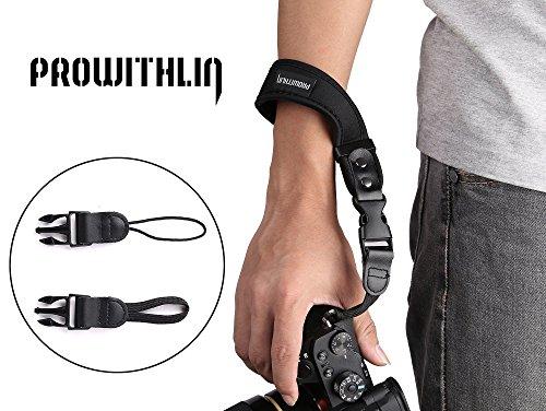 PROWITHLIN verstellbare Kamera Handschlaufe für SLR Kameras DSLR, Pentax, Canon, Panasonic, Leica, Sony, Samsung, M4/3, NEX, Fujifilm, usw.