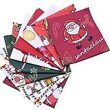 WINAROI 10 Stück Weihnachten Baumwollstoff Stoffpakete je