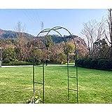 WYCD Arco de Metal para Rosas, Verde Pérgola de jardín para maceteros, Arco de jardín para Rosales y Plantas trepadoras, 240x140x38 cm
