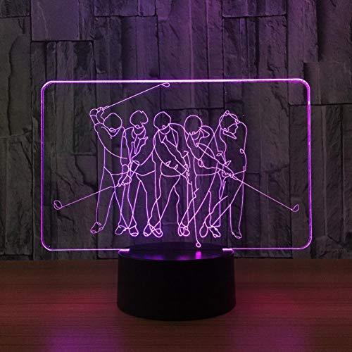 Yujzpl 3D Illusion Lampe Led Nachtlicht Mit 7 Farben Flashing & Touch-Schalter,Für Schlafzimmer Kinder Weihnachts Valentine Geburtstag Geschenk[Energieklasse A++]Hockey