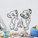 yaonuli Lion abnehmbare Wandaufkleber für Kinderzimmer Wandaufkleber Schlafzimmer Vinyl Wandaufkleber 63X55cm