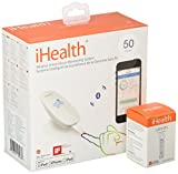 iHealth Smart Wireless Blood Sugar Test Kit for iPhone & Android,Bluetooth Diabetes Testing Kit with 50 Test Strips, 50 Lancets, Control Solution, Smart Blood Glucose Meter for Blood Sugar Monitoring
