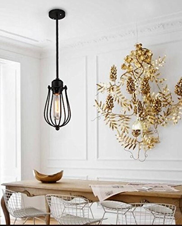 WUFENG diaodeng Deckenleuchten Amerikanisches Wohnzimmer Kronleuchter amerikanisches Land Europische Retro schmiedeeiserne Kronleuchter (Stil   B)