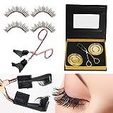 Magnetic Lashes,Magnetic Eyelashes Applicator Tool Kit,Glue-free Magnetic Eyelashes Clip with 2 Pairs Quantum Soft Magnetic Eyelashes Natural Looking Set