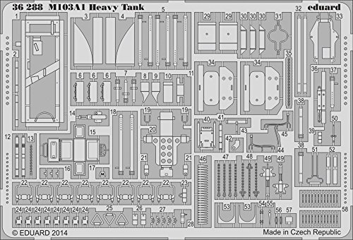 Eduard Photoetch 1:35 - M103A1 Heavy Tank (DRA3548)