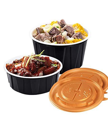 Boîte à lunch en plastique à usage unique Boîte à lunch, et l'isolation prévention des fuites, Microwave chauffage, ICE, Soupes, snack, pâtes, fromage, Restaurants (360ml ~ ~ 450ml 550ml ~ ~ 600ml 800