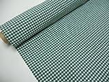 Confección Saymi Metraje 2,45 MTS Tejido Vichy, Cuadro pequeño 5x5 mm. Color Verde, con Ancho 2,80 MTS.