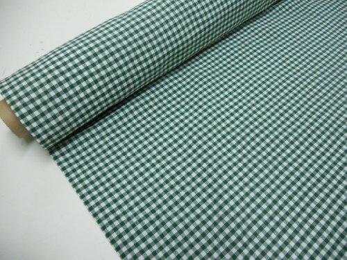 Confección Saymi Metraje 0,50 MTS Tejido Vichy, Cuadro pequeño 5x5 mm. Color Verde, con Ancho 2,80 MTS.
