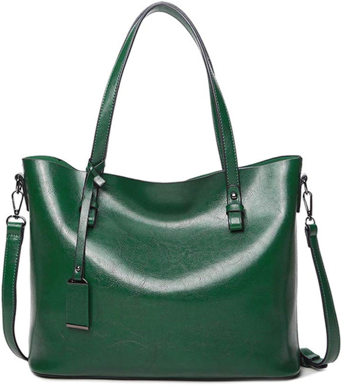HYF Women Top Handle Satchel Handbags Shoulder Bag Top Purse Messenger Tote Bag PU Leather Shoulder Bags (color   Green, Size   Onesize)