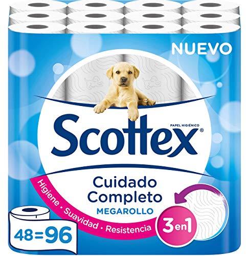 Scottex Megarollo Toilettenpapier, 48 Megarollen (entspricht 96 Standardrollen)