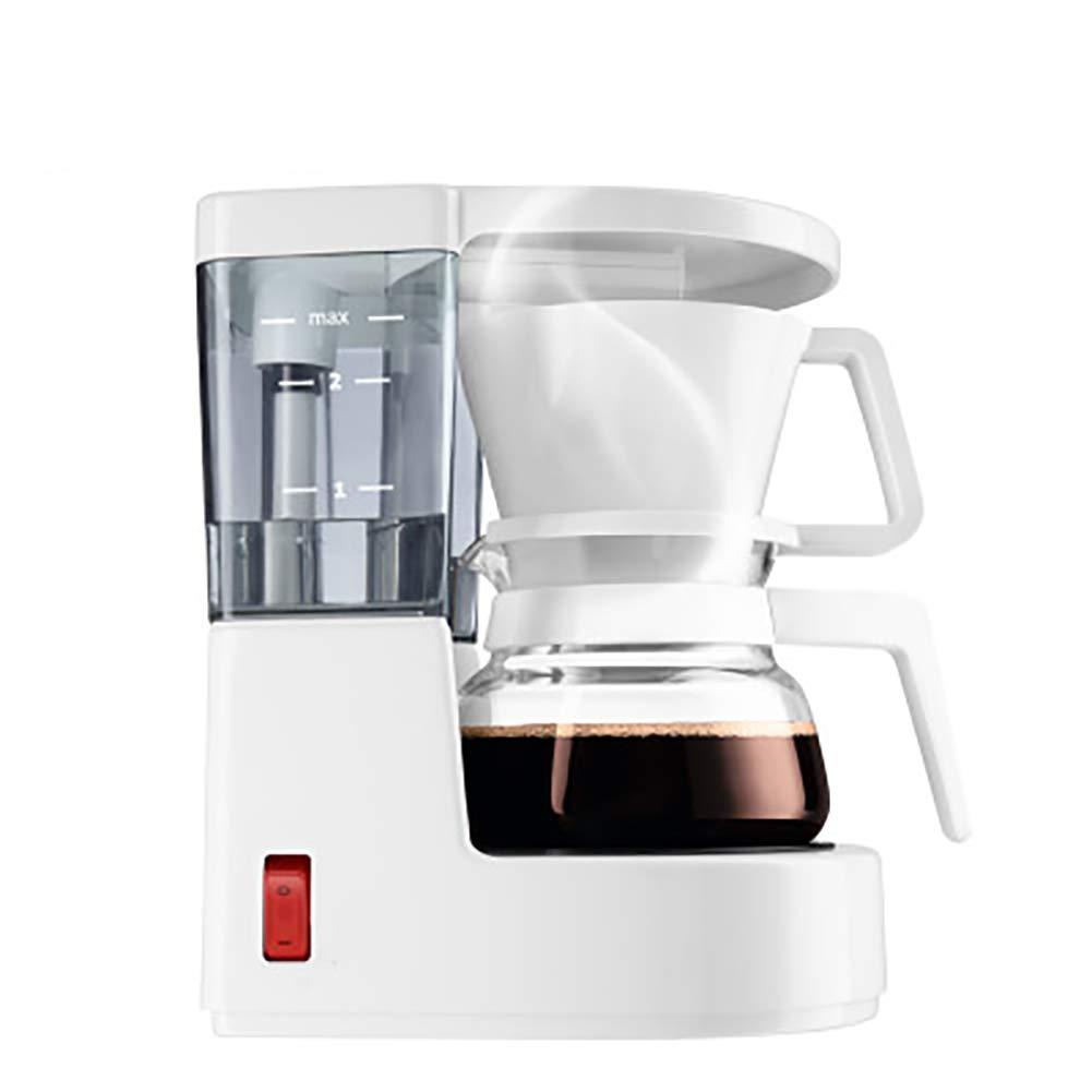 YBCD Mini cafetera de Goteo automática/máquina de Filtro de té/con Recipiente de Vidrio/con chasis Aislante 2/4 Tazas de café-White: Amazon.es: Hogar