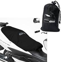 Compatible con Suzuki Burgman AN 400 i.e. Funda de sillín Givi S210 Impermeable Universal Longitud 117 cm Cubierta de sillín para Moto Scooter Bordes elásticos Negro