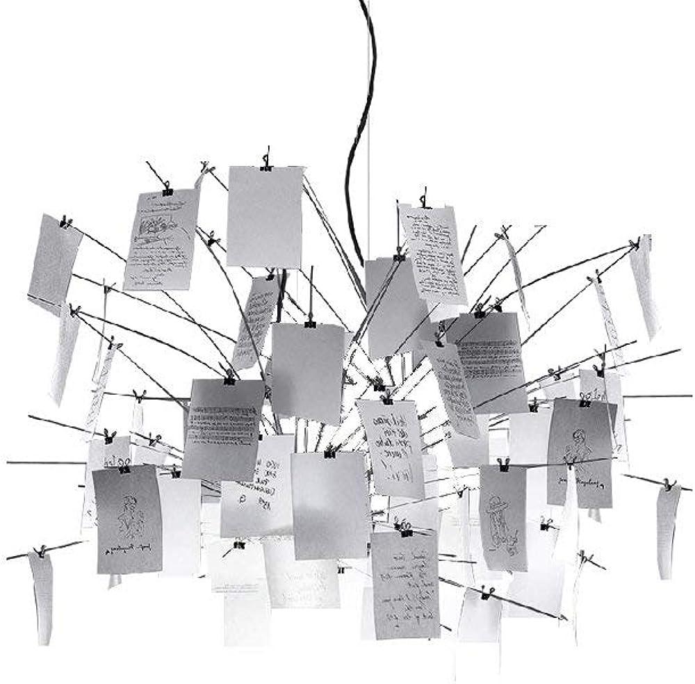 Ingo maurer zettel`z 5 lampada a sospensione,in acciaio inossidabile, vetro satinato , carta giapponese 1150000