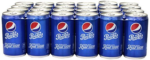 Pepsi Made with Real Sugar, 7.5 Fl Oz Mini Cans, 24 Pack by Pepsi