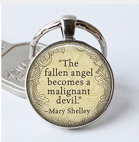 'Portachiavi'L' angelo caduto diventa un Maligant Devil quote vetro regali portachiavi