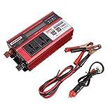 車のインバーター、500W 4 * USBパワーレギュレータモジュールデジタルディスプレイパワーインバーターDC 12VをAC 220V-240Vに変換